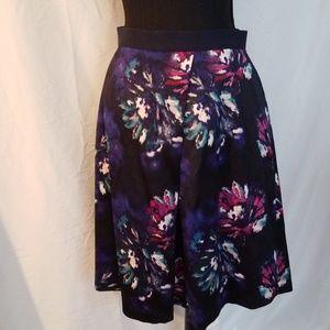 Ellen Tracy Floral Print Skirt